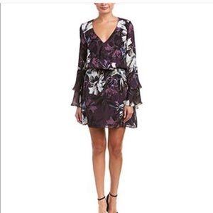 Parker Floral Silk Dress Large
